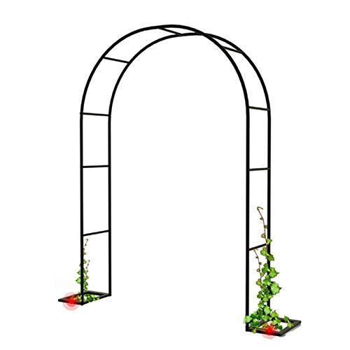 1.2m 1.4m 1.8m Black Metal Garden Arch, Heavy Duty Rose Arch, For Various Climbing Plant, Outdoor Garden Lawn Backyard Archway Decoration