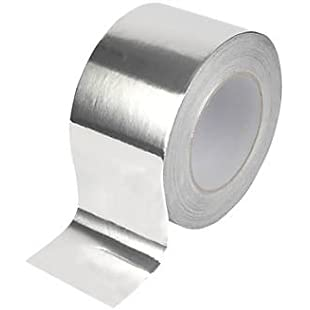 Virtue Retail Aluminium Foil Duct Tape Silver Extra Thick 75mm 20 METRES ROLL Heat Resistant, for Ducting & Ducts, Exhausts, Crafts, AC, Superior Insulation