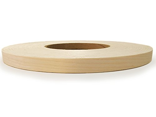 Edge Supply Brand Birch 7/8' x 250' Roll Preglued, Wood Veneer Edge Banding, Flexible Wood Tape, Easy Application Iron On with Hot Melt Adhesive. Smooth Sanded Finish Veneer Edging. Made in USA.