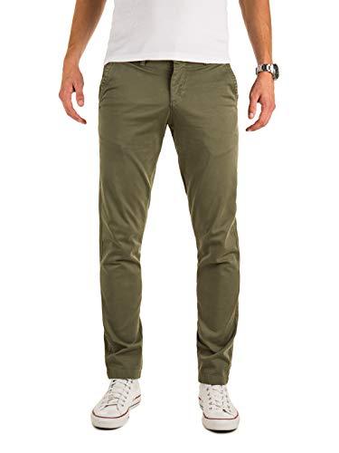 Yazubi Herren Chino Hosen - Modell Malphite by Yzb Jeans - Chinohose Khaki - Grüne Chinohosen Stretch, Grün (Dusty Olive 180515), W30/L32