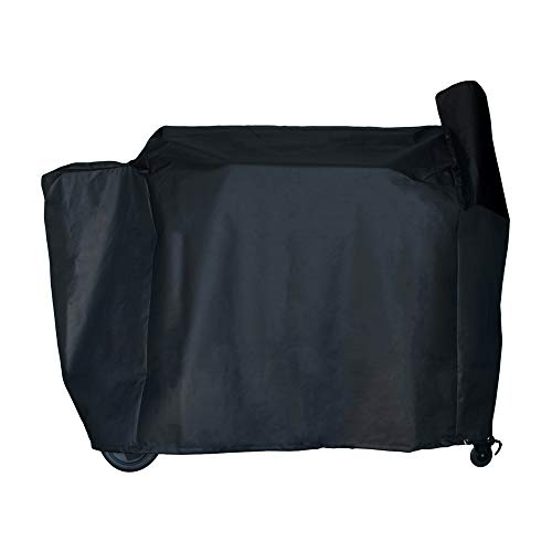 """Pellet Grill Smoker Cover for Traeger / Pit Boss - Heavy-Duty - Full Length 42"""" x 74"""" x 28"""" inches - Black"""