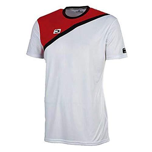 John Smith ACIS Camisetas, Hombre, Blanco/Rojo, L