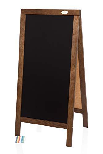 Kundenstopper 125cm Holz Tafel Aufsteller Werbetafel Werbung Kreide Kreidetafel Gehwegaufsteller Dunkelbraun