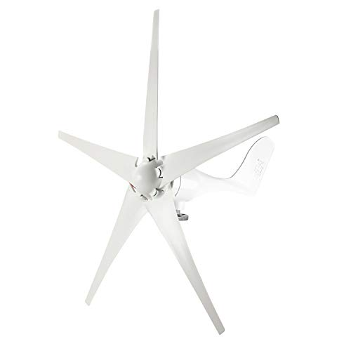 YaeMarine Wind Turbine Generator, 400W 12V Wind Turbine Businesses 5 Blade Wind Controller Turbine Generator kit for Home/Camping, White, Black, Blue, Red, Green (White)