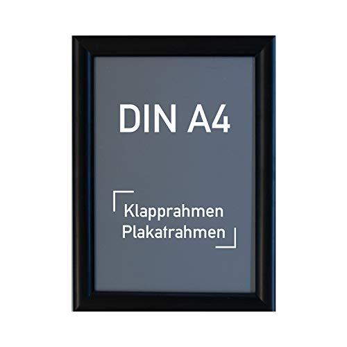Aluminium Klapprahmen DIN A4, schwarz - Alu Rahmen, Plakatrahmen, Wechselrahmen, 210 x 297 mm