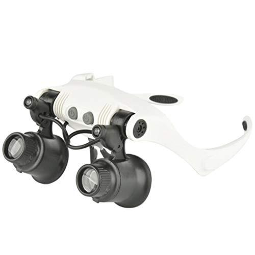 Vergrootglas kop met dubbele ledverlichting, voor nauwkeurig lezen en repareren van horlogemakers, sieraden, sieraden.