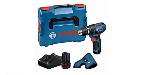 Bosch Professional Perceuse visseuse à percussion Sans-fil GSB 12 V-15 Drill (2 batteries 12V 2,0Ah, Dragonne, L-BOXX)