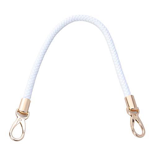 Healifty PU-Leder Taschenriemen Ersatz Henkel für Tasche Handtasche Handwerk Tasche Zubehör 52 cm (Karabinerhaken Weiß)