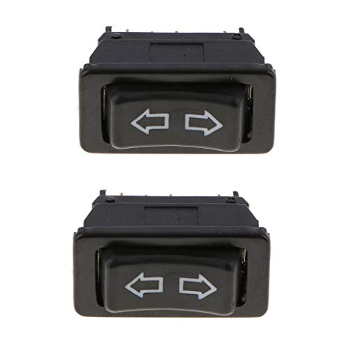 Homyl 5 Pins Zweireihig Fensterheber Schalter Knopf Universal 12V / 24V 2St