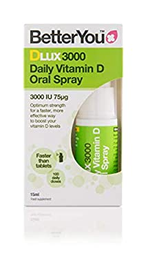(3 PACK) - BetterYou - D Lux 3000 Oral Vit D3 Spray   15ml   3 PACK BUNDLE from BETTER YOU