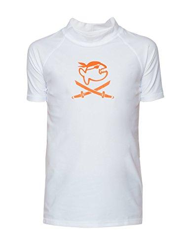 iQ-Company Kinder UV 300 Shirt Kids Jolly Fish, weiß, Gr. 140/146