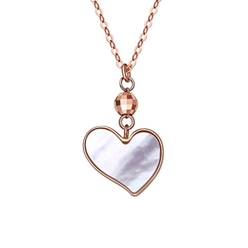 Collar Mujer Colgante Collar del Encanto de Las Mujeres Enviar Novia 18k del Collar del corazón del Amor del Oro 17inch un Regalo de cumpleaños Collares