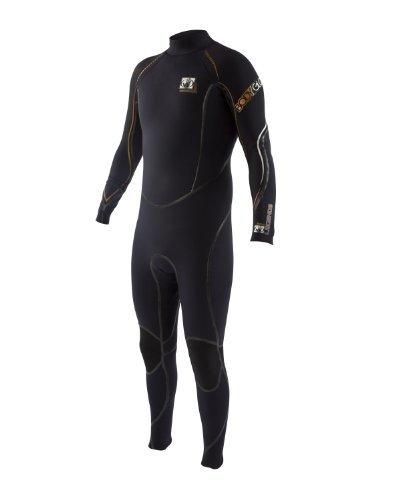 Body Glove Men's 4/3mm Legends Back-Zip Full Body Wetsuit, Medium/Short by Body Glove