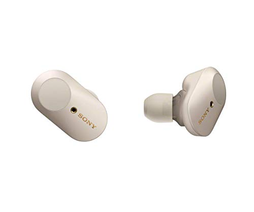 Sony WF-1000XM3 Wireless Noise Cancelling Headphones (Platinum Silver)