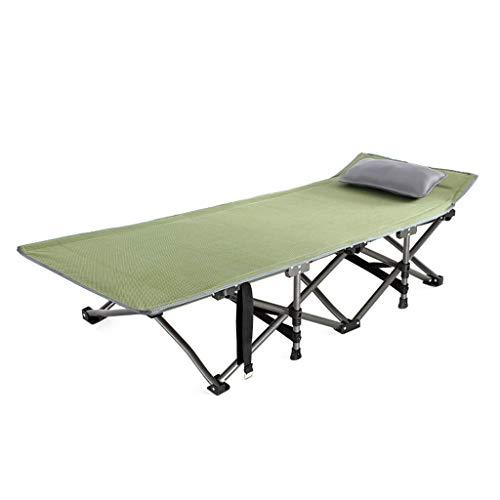 UCYG Bed, campingbed, logeerbed, inklapbaar, 1 persoon, klapbed, met metalen frame, belastbaarheid tot 150 kg, 190 x 70 x 50 cm