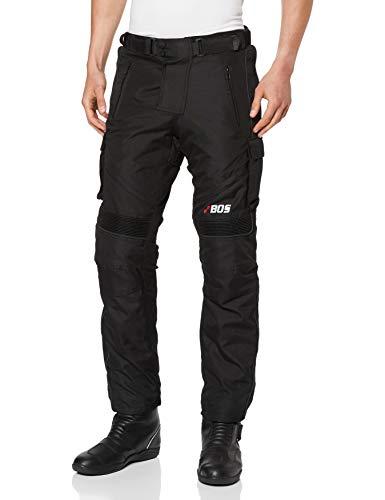 BOSMoto - Traje de motorista Cordura textil chaqueta de moto, pantalones de moto, guantes de color negro (L)