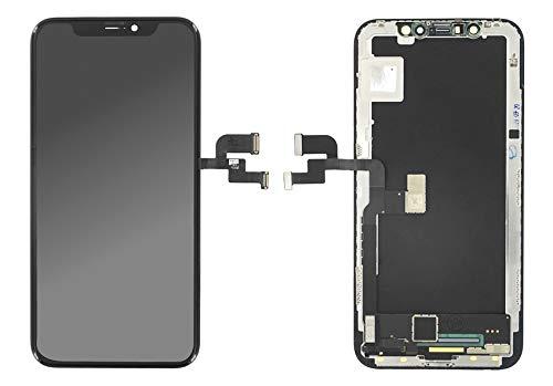 Handyteile24 Soft OLED-scherm scherm touchscreen in zwart voor iPhone X