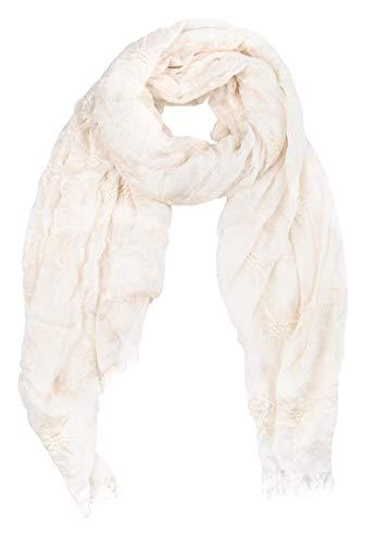 GIULIA BIONDI 100% Made in Italy Schal Bestickt Pareo Sarong Halstuch Stola Tuch Leicht Weich Sommer Damen Damenschal