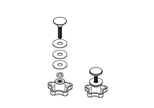 Service Kit - Elevator Bolt Assembly (Includes 2 Complete Knob Sets)