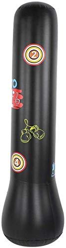 Saco de boxeo de material de PVC, ligero, resistente, estructura de boxeo, saco de arena de pie, para adultos y niños, boxeo, 1,4 m, color negro