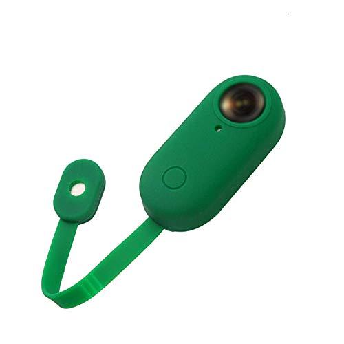 LYXMY Kamera-Schutzhülle, Silikon, mit Verschluss, staubdicht, verschleißfest, Anti-Verlust-Kratzschutz für Insta360 GO, Rot