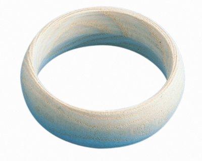 Bracelet En Bois Forme Bombee D70-h25mm - Lot De 5 [Jouet]