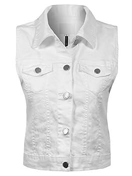 Best white denim vest jacket Reviews