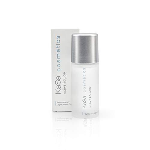 KaSa cosmetics Active Roll on - 50 ml - Antitranspirant gegen starkes Schwitzen für Männer & Frauen - Dermatologisch getestet - Schützt vor Schweiß- und Geruchsbildung - Made in Germany