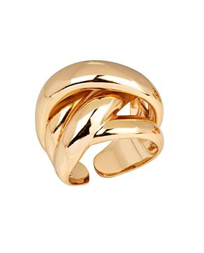 VIDAL & VIDAL Anillo mujer ancho chapado en oro
