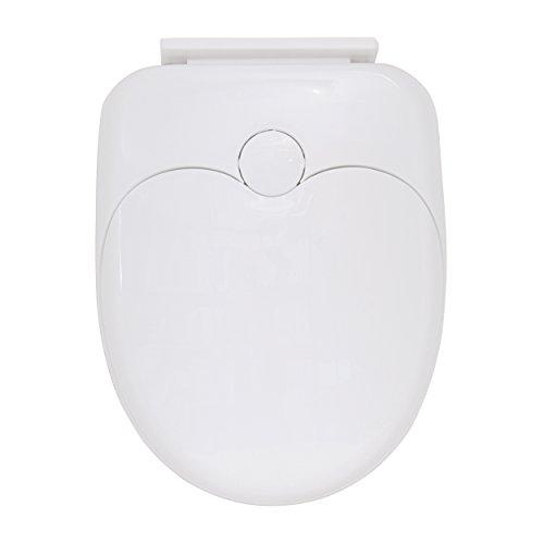 MSV WC-bril voor volwassenen en kinderen, plastic, wit, 30 x 20 x 15 cm