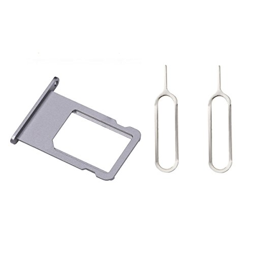 Sim Kartenhalter + 2 Pins Eject für iPhone 6s plus Grau