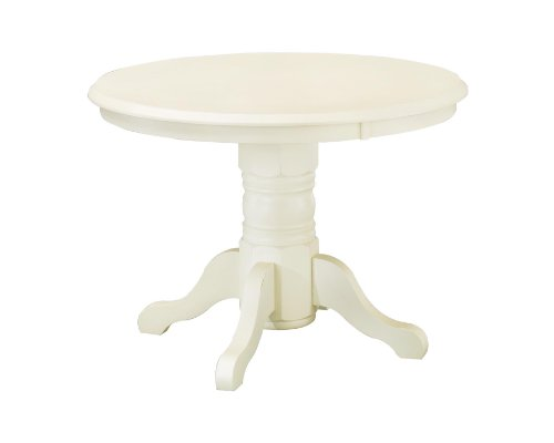 Classic White 42' Round Pedestal Dining Table by Home Styles