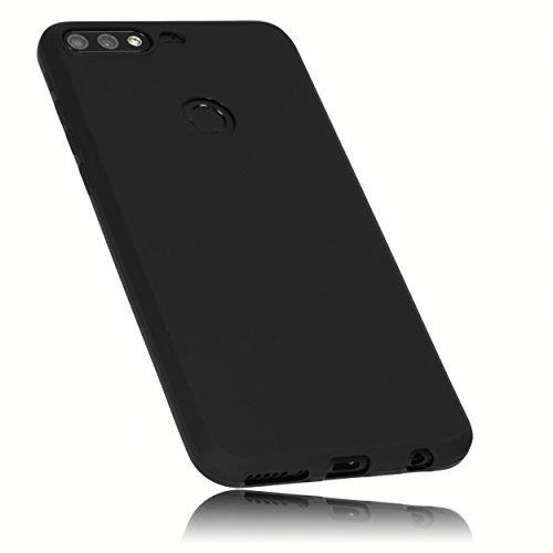 mumbi Hülle kompatibel mit Honor 7C Handy Case Handyhülle, schwarz