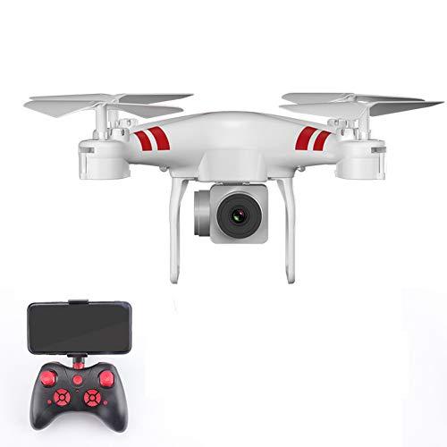 E-KIA Drohne Mit Kamera Luftaufnahmen,Live-Video Und GPS-Empfang Mit Einstellbarer Weitwinkel-1080p Hd WiFi-Kamera,White,720P-camera