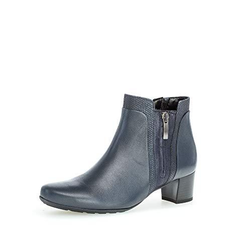 Gabor Damen Elegante Stiefeletten, Frauen Klassische Stiefelette,Comfort-Mehrweite, halbstiefel reißverschluss Stiefel,Ocean (Micro),39 EU / 6 UK