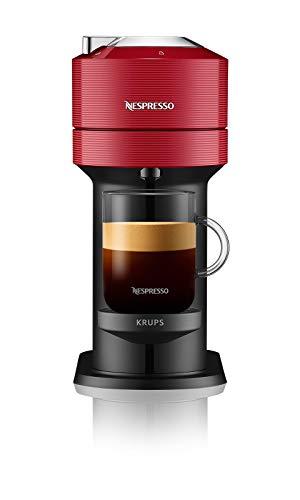 Nespresso VERTUO Next XN9105 Cafetera de cápsulas, máquina de café expreso de Krups, café diferentes tamaños, 5 tamaños tazas, tecnología Centrifusion,calentamiento30 segundos, Wifi, Bluetooth, Roja