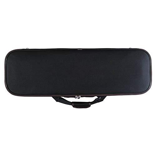 YLiansong Violin Case Bag Box Rucksack Leichte Geigenkasten mit Oxford-Tuch-Schulter-Beutel-Art-bewegliche Geigenkasten mit Hygrometer 4/4 (Farbe : Schwarz, Größe : 4/4size)
