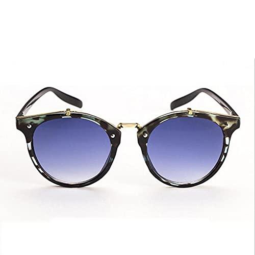 ShSnnwrl Gafas Sol De Hombre Mujer Polarizadas Sunglasses Gafas De Sol De Diseñador De Marca De Remache Redondo Retro Gafas De Sol Femenin