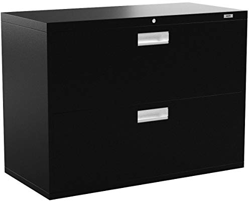HON 2-Drawer Filing Cabinet - 600 Series Lateral Legal or Letter File Cabinet,  Black (H682)