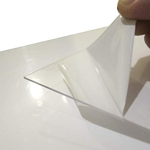 FRM. Lastra Policarbonato Compatto. Trasparente. UV Resistente. Flessibile. (420 x 297 x 1 mm - Lotto di 2)