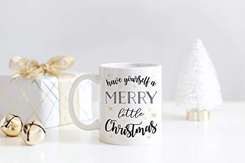 ChGuangm Christmas Mug Have Yourself a Merry Little Christmas Christmas Gift Gifts for her Unique Mugs Office Party Christmas Coffee Mug