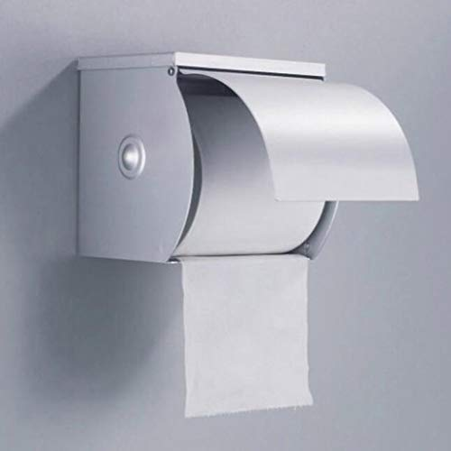 RUNWEI Tejido Aluminio del Espacio de la Caja del sostenedor de Papel higiénico a Mano Caja de Papel de Revestimiento de Cromo de Rod Número Individual Bar Baño Hierba Bandeja de Aluminio del Espacio