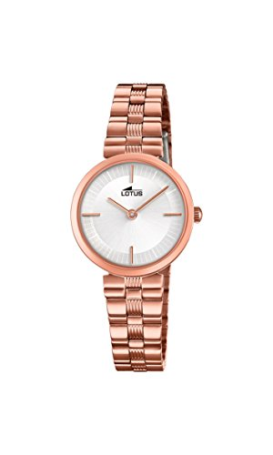 Lotus Watches Reloj Análogo clásico para Mujer de Cuarzo con Correa en Acero Inoxidable 18544/1