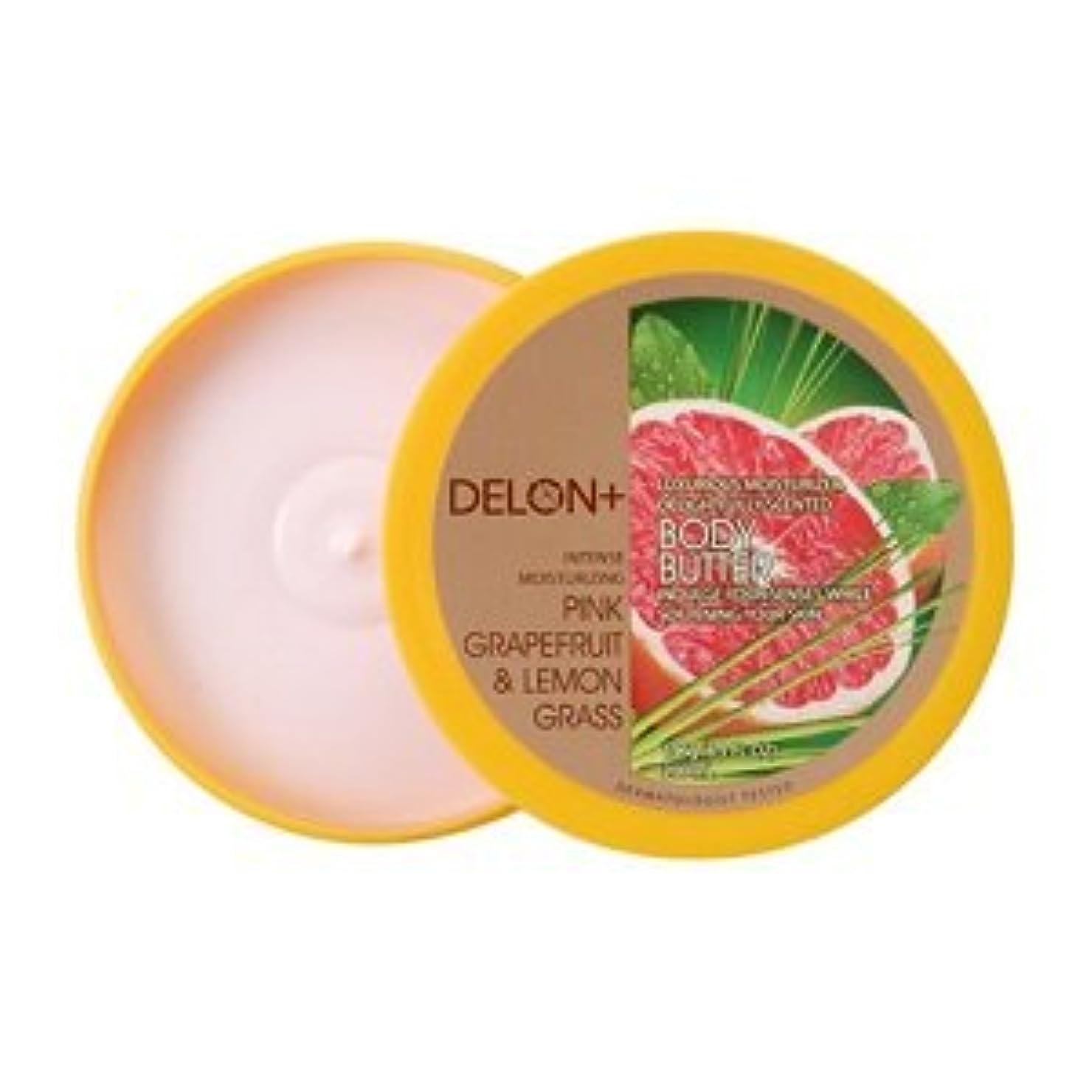ブロックする怠ポルトガル語デロン ボディバター ピンクグレープフルーツ & ;レモングラス 196g ボディクリーム