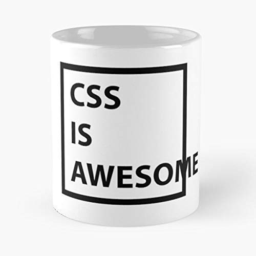 N\A Taza clásica CSS Is Awesome, 11 oz.