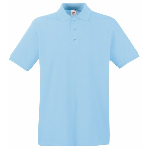 Fruit of the Loom Premium Polo - Farbe: Sky Blue - Größe: S