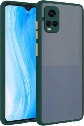 Casefisher Smoke Rubberized Matte Hard Translucent Back & Soft Edge Mobile Back Cover for Vivo V20 Pro, Dark Green