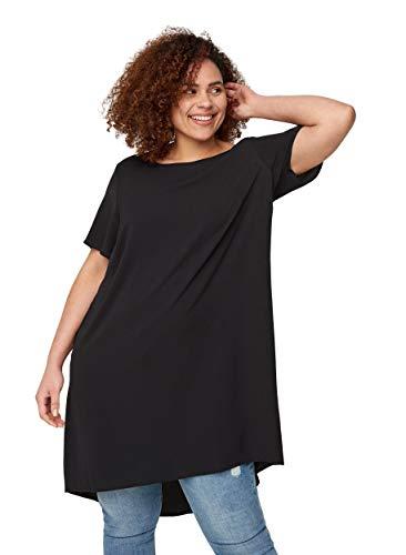 Zizzi Große Größen Damen Kurzarm Kleid mit Rundhals Gr 42-56