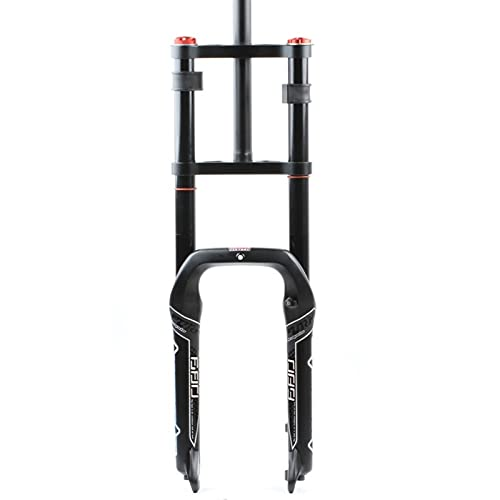 Horquilla de suspensión Aspecto delantero de la suspensión Doble Hombro Mountain Bike Amortiguador de choques (control del hombro) Stroke 10 0MM Blanco 20 pulgadas, horquilla delantera de primavera /