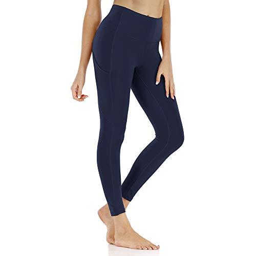Lixada Leggings de Yoga para Mujer con Bolsillos Pantalones Deportivos Ajustados de Cintura Alta Pantalones Deportivos de Entrenamiento de Gimnasio